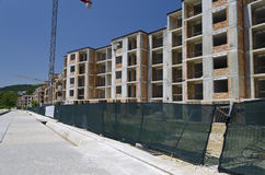 Construction of  residential buildings Stock Images