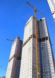 Construction of residential buildings Royalty Free Stock Photography