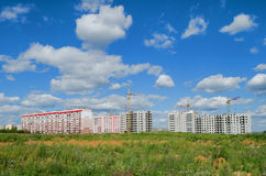 Construction of residential buildings Royalty Free Stock Images