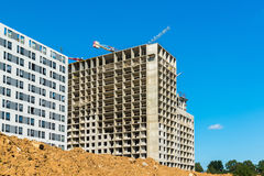 Unfinished residential buildings in Moscow, Russia Stock Image
