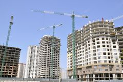 Construction. Residential community Stock Image