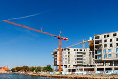 Construction of a residential complex. Royalty Free Stock Images