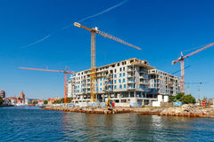 Construction of a residential complex. Stock Images