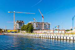 Construction of a residential complex. Royalty Free Stock Image