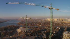 Construction of residential complex, Kyiv stock footage