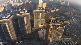 Construction of residential complex, Kyiv stock video footage