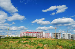 The construction of a residential district Stock Photo