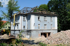Construction of a residential home royalty free stock image