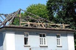 Construction of a residential home stock photos
