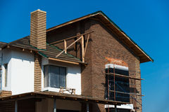 Construction of residential house Royalty Free Stock Photo