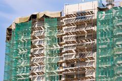 Construction of residential houses Stock Photography