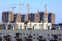 The construction of residential houses Stock Images