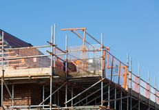 Construction of residential property Royalty Free Stock Photos