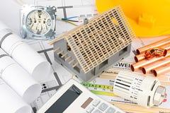 Construction resindental de maison d'architecture photos stock