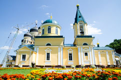 Construction and restoration of Orthodox Church in Moldova Stock Image