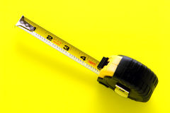Construction Retracting Tape Measure Stock Photography