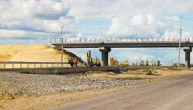 Construction of the road Stock Images