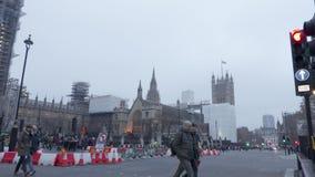 Construction at Big Ben stock footage