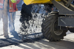 Construction, road fixing Royalty Free Stock Photography