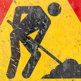 Construction Road Sign Royalty Free Stock Images
