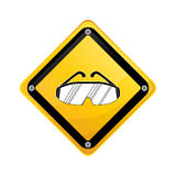 Construction road sign. Icon  illustration graphic design Royalty Free Stock Images