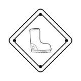 Construction road sign. Icon  illustration graphic design Stock Image