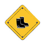 Construction road sign. Icon  illustration graphic design Stock Photo