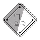 Construction road sign. Icon  illustration graphic design Stock Photos