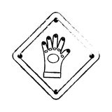 Construction road sign. Icon  illustration graphic design Stock Images