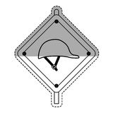 Construction road sign. Icon  illustration graphic design Stock Photography