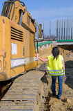 Construction of a road tunnel worker Royalty Free Stock Photography
