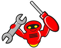 Construction robot stock illustration