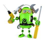 Construction robot. Technology concept.. Contains clipping path.  Stock Photos