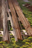 Construction Rods on the Grass Stock Photos