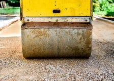 Construction roller or steamroller during road construction. Asp Stock Photos