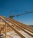 Construction of a roof royalty free stock photos