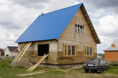 Construction of the rural house Royalty Free Stock Images