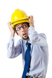 Construction safety concept with builder Royalty Free Stock Photography