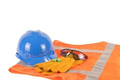 Construction safety equipment Royalty Free Stock Photo