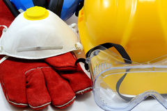 Construction safety equipment Royalty Free Stock Images