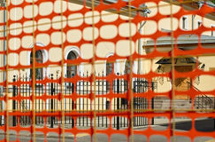 Construction Safety Fence Royalty Free Stock Photography