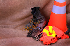 Construction Safety Gear Royalty Free Stock Photography