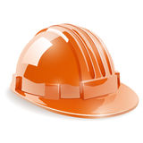 Construction safety helmet. On white background illustration Royalty Free Stock Images