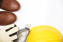 Construction safety,safety equipment on white background isolate Stock Images