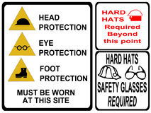 Construction safety signs stock illustration