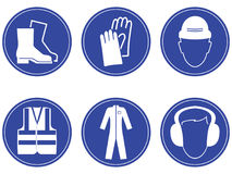 Construction safety Signs Stock Images