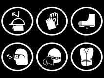 Construction safety symbols Royalty Free Stock Photos