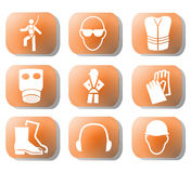 Construction safety symbols Royalty Free Stock Image