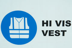 Construction Safety Vest Icon. Construction site warning icon showing that safety vest is required royalty free stock photography
