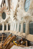 Construction of Sagrada Familia in Barcelona Royalty Free Stock Images